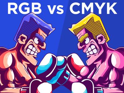 BATTLE ROYAL RGB vs CMYK vector character vector illustrator illustrator cmyk rgb youtube characters vector illustration