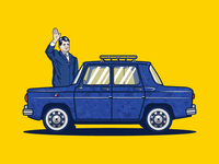 Dacia 1100 Car Illustration