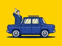 Dacia 1100 Car Illustration