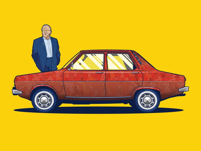 Dacia 1300 Car Illustration dacia flat car adobe cc artwork drawing art dribble design adobe illustrator vector illustration