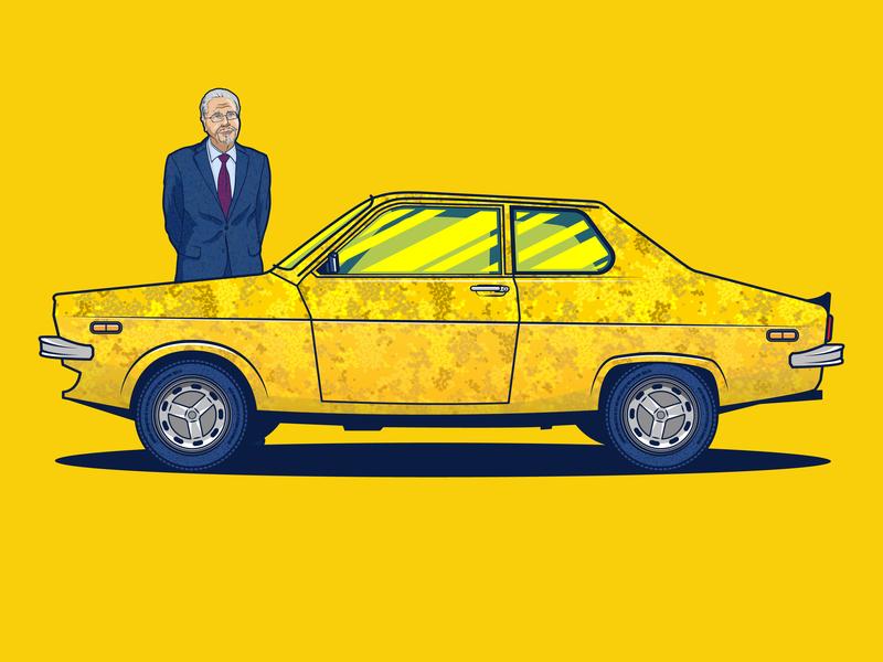 Dacia 1410 Vector Car Illustration drawing dacia flat car adobe cc artwork art dribble design adobe illustrator vector illustration