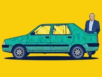 Dacia Solenza Vector Car Illustration