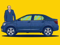 Vector Car Illustration Dacia Logan