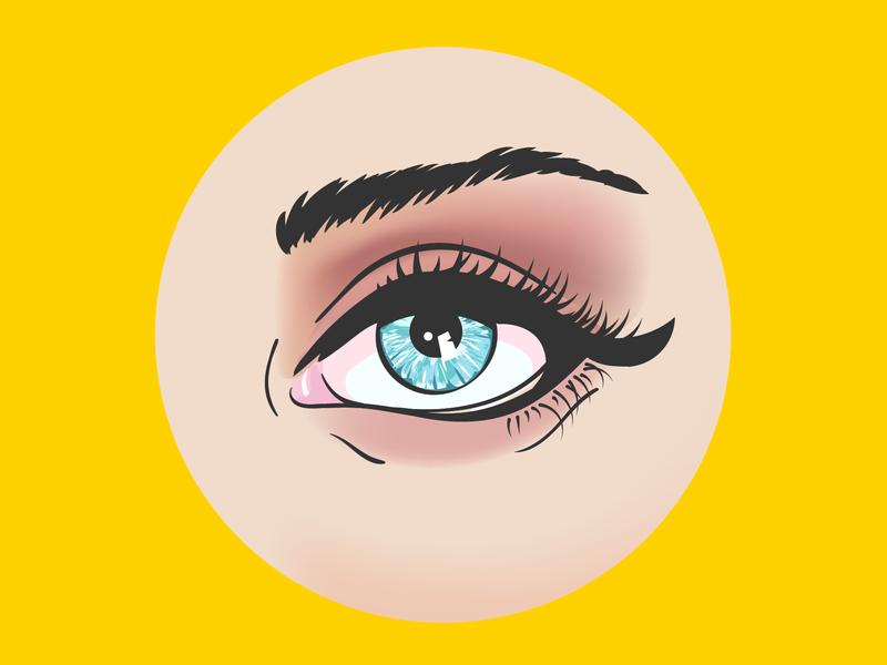 Vector Eye Illustration dribble adobe cc vector art vector artwork adobe illustration illustrator design eye vector