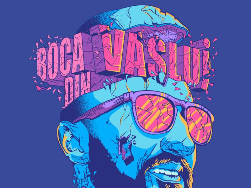 "T-shirt design ""Cracked"" illustration t-shirt dribble design illustrator adobe illustration vector"