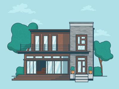 House vector illustration digital house artwork shapes design adobe illustration illustrator vector