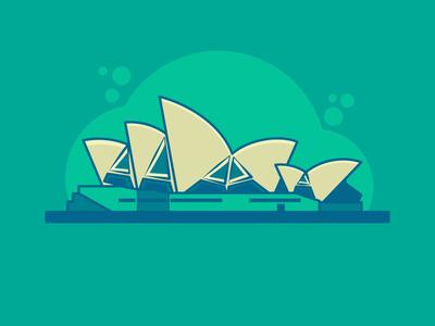 Sydney vector illustration adobe illustrator illustration design flat vector
