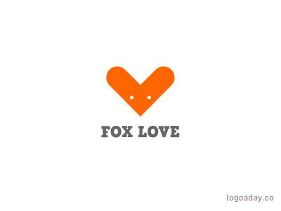 Fox Love heart love fox