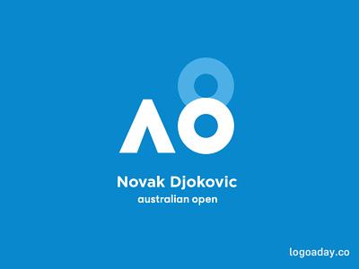 Novak Djokovic's 8th Australian Open Title logo 8 tennis australia australian open novak djokovic