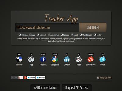 Tracker App tracker track shares likes tweets counter