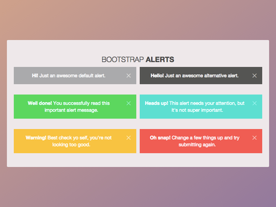 Alerts Bootstrap messages errors info alert bootstrap twitter css yosemite apple