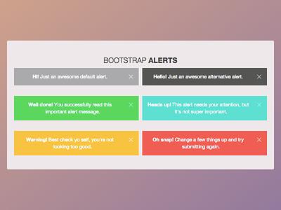 Alerts Bootstrap messages errors info alert bootstrap twitter css yosemite apple