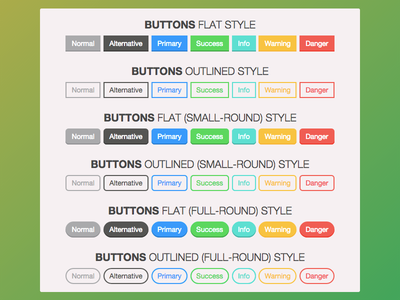 Bootstrap Buttons bootstrap buttons flat outline mac apple yosemite