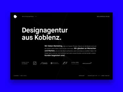 Bourros /Rise Landing Page Desktop