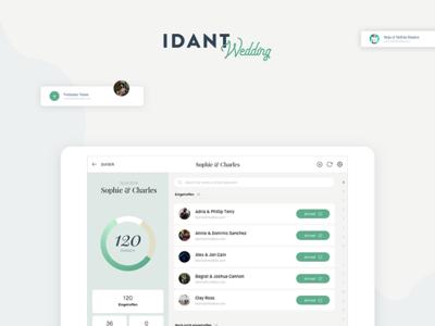 IDANT Wedding Tablet View - WIP