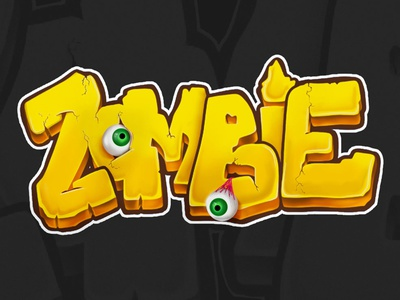 """Zombie"" Hand-lettering design lettering handlettering graphic adobe illustrator illustration"