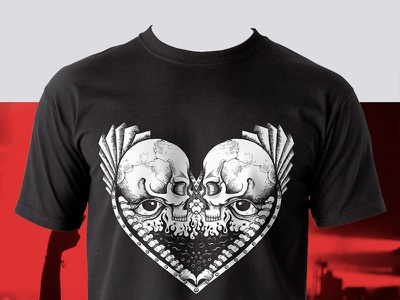 T-shirt illustrations (spades, clubs, diamonds, hearts) hearts diamonds clubs spades skull skulls skull art t-shirt illustration t-shirt design t-shirt adobe illustrator illustration design
