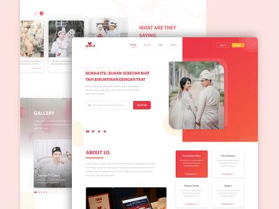 Landing Page Website Startup Qtaaruf apps mobile app uiux branding surabaya indonesia muslim rebranding brand design web ui ux design