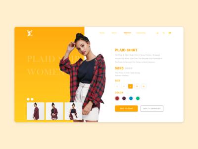 Shopping Website UI