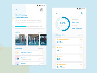 Healthy Report Mobile UI