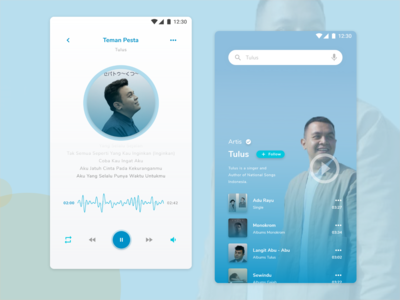 Music Player Mobile Apps UI