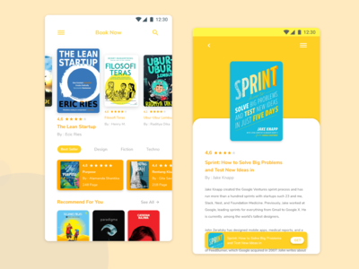 Mobile Reading Book UI