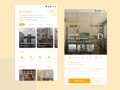 Mobile Booking Apartment UI