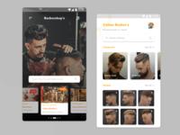 Barbers Shop Mobile UI