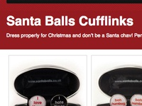 Santa Balls Cufflinks Page