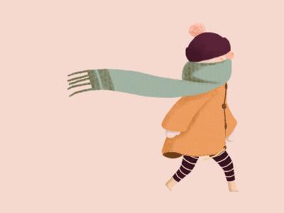 Autumn girlie on a walk