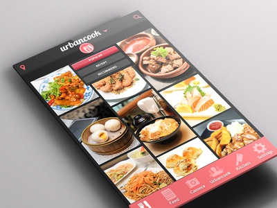 Urbancook Branding Website Mobile App urbancook website mobile app application ios food app recipe food recipe dish food photography