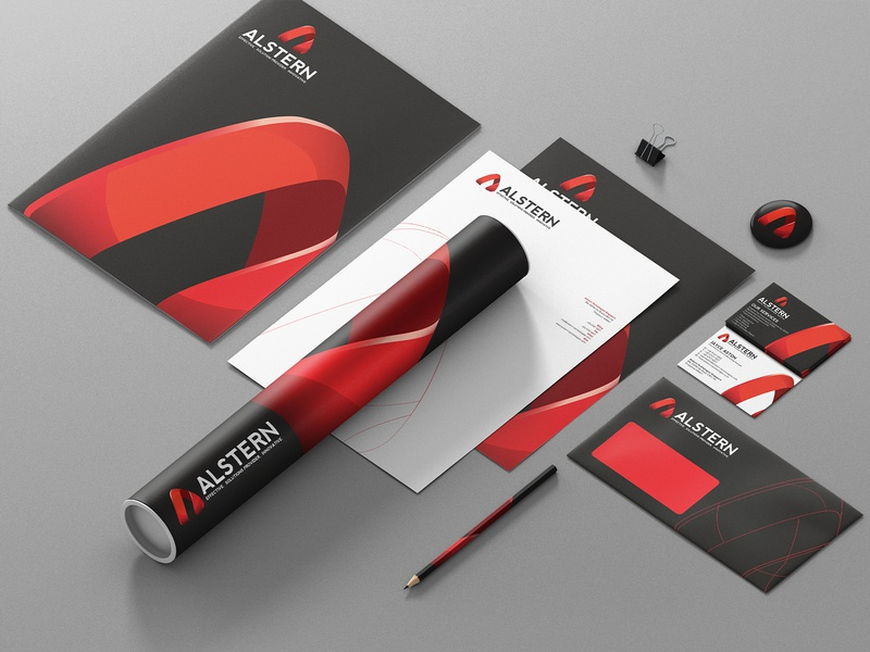 Alstern Technologies Singapore   Red Branding design   07 a logo logotype red branding red card business card logodesign solution sg singapore vi branding red logo technology alstern