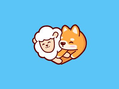PuppyLamby Cute Logo design 2020 dog logo puppy lamb youtube channel youtube logo cute puppy cute lamb lamb logo puppy logo