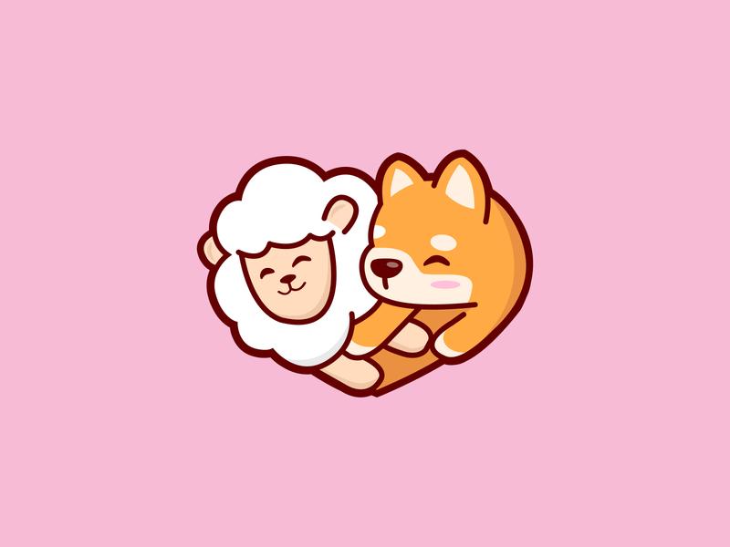 PuppyLamby Cute Logo design 2020 dog logo puppy lamb youtube channel youtube logo cute dog cute puppy cute lamb puppylamby lamb logo