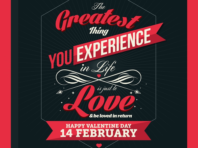 valentine day poster card design by lemongraphic dribbble