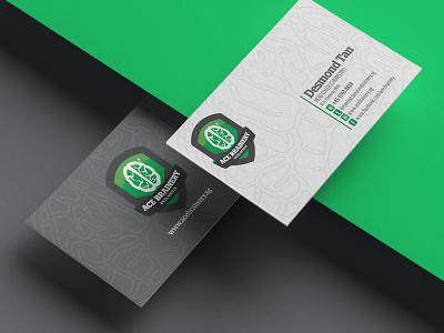 AceBrainery Branding - Learning Chemistry Tution learning education tuition chemistry branding green branding business card brain logo logo