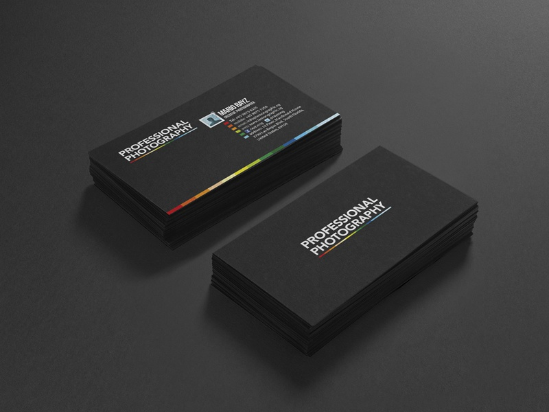 Professional Photography Business Card Design by Lemongraphic - Dribbble