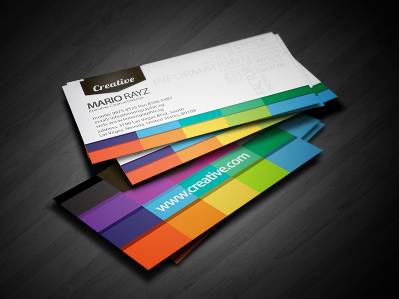 tags colorful business card dribbble