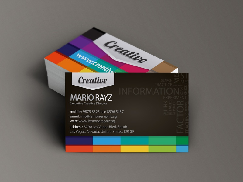 Creative Business Card Design Black by Lemongraphic Dribbble