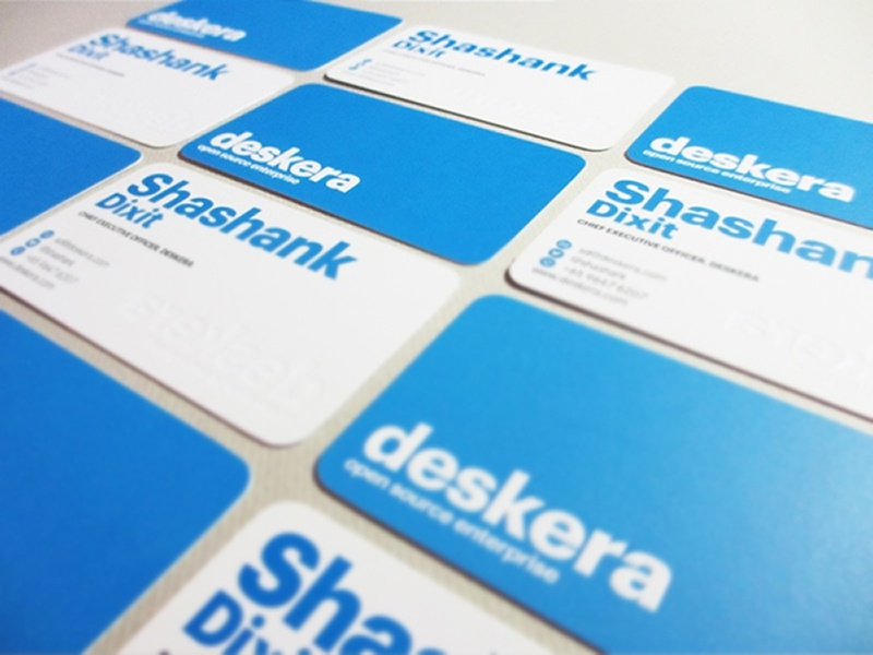Deskera Embossed Business Card Design by Lemongraphic - Dribbble