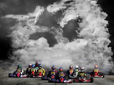 IAME Karting - The Heart of Kart branding RACE poster design engines