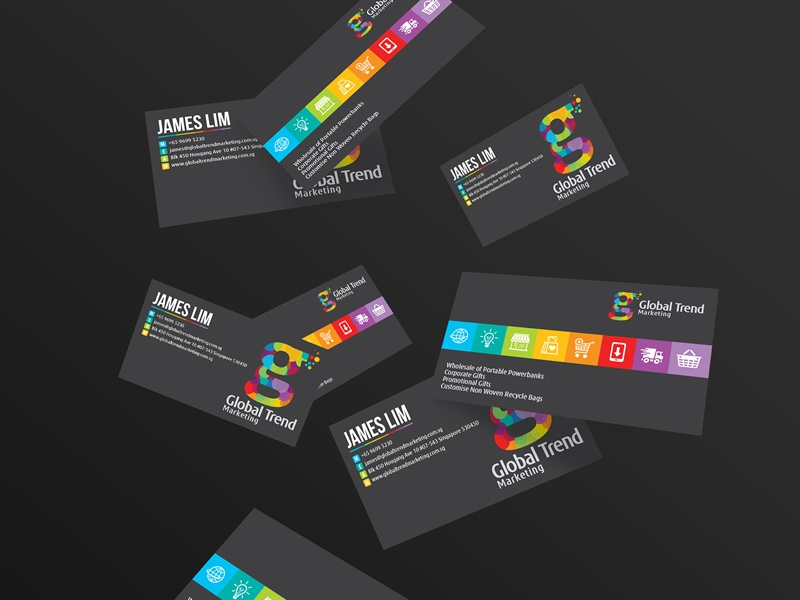 Global trends branding business card design by for Business card trends