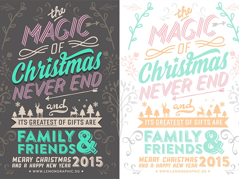 merry christmas typography new year card 2015 christmas xmas merrychristmas newyear newyearday newyear2015 2015 christmas2015 letterpress