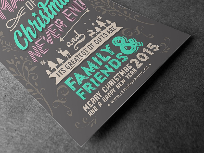 merry christmas typography new year card 2015 typography card letterpress christmas2015 2015 newyear2015 newyearday newyear merrychristmas