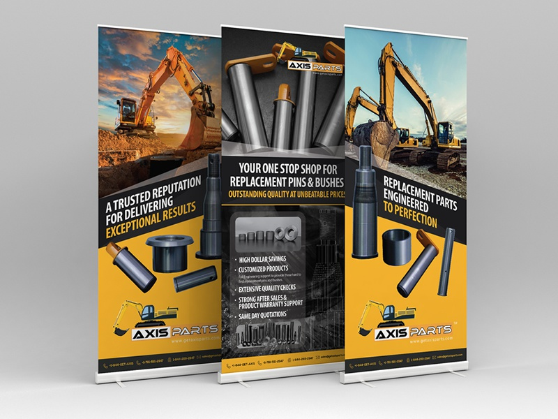 Construction Equipment Banners Ad Samsung Banners