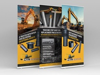 Get Axis Parts pull up banner design