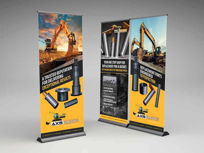 Get axis parts pull up banner design dribbble 02