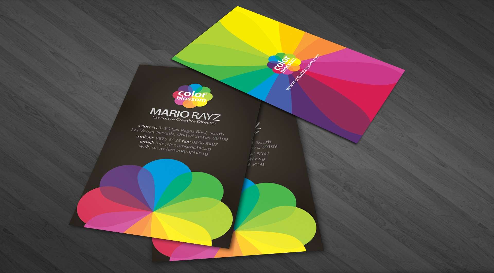 Dribbble color blossom business card 01g by lemongraphic color blossom business card 01 colourmoves