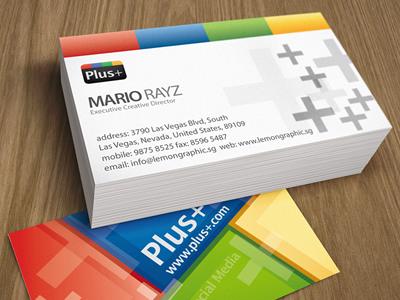 Google plus business card by lemongraphic dribbble google plus colourmoves Images