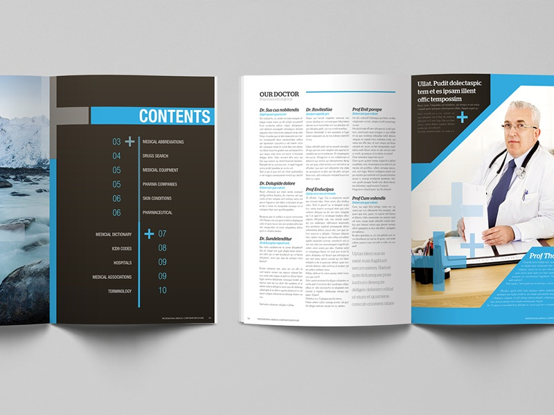 professional medical corporate brochure design by lemongraphic